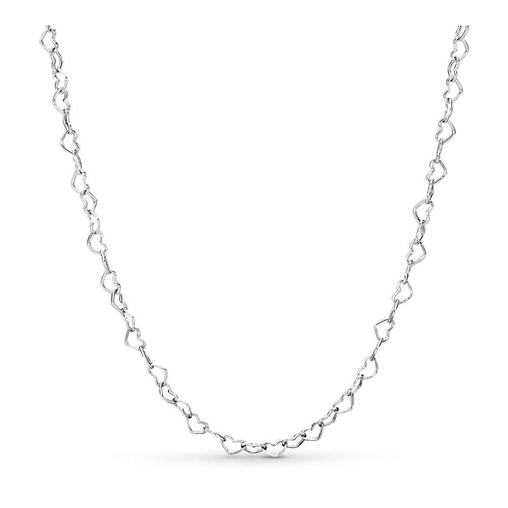 : - Sammanflätade Hjärtan Halsband Silver