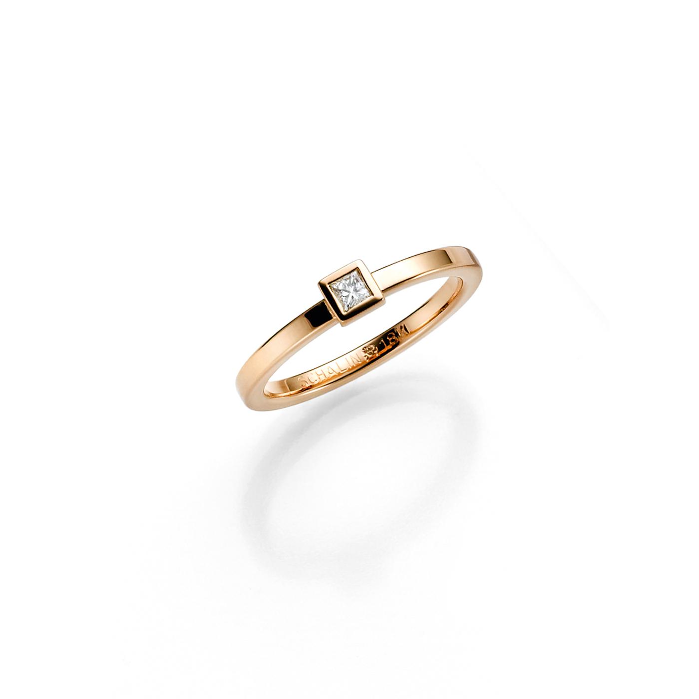 Vigselring 18k guld Skina 0,10 ct Diamant