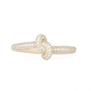 Absolutely Slim Knot Ring Guld White Diamonds