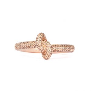 Absolutely Slim Knot Ring Roséguld Champagne Diamonds