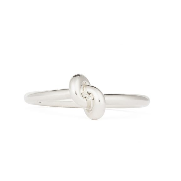 Absolutely Slim Knot Ring Vitguld