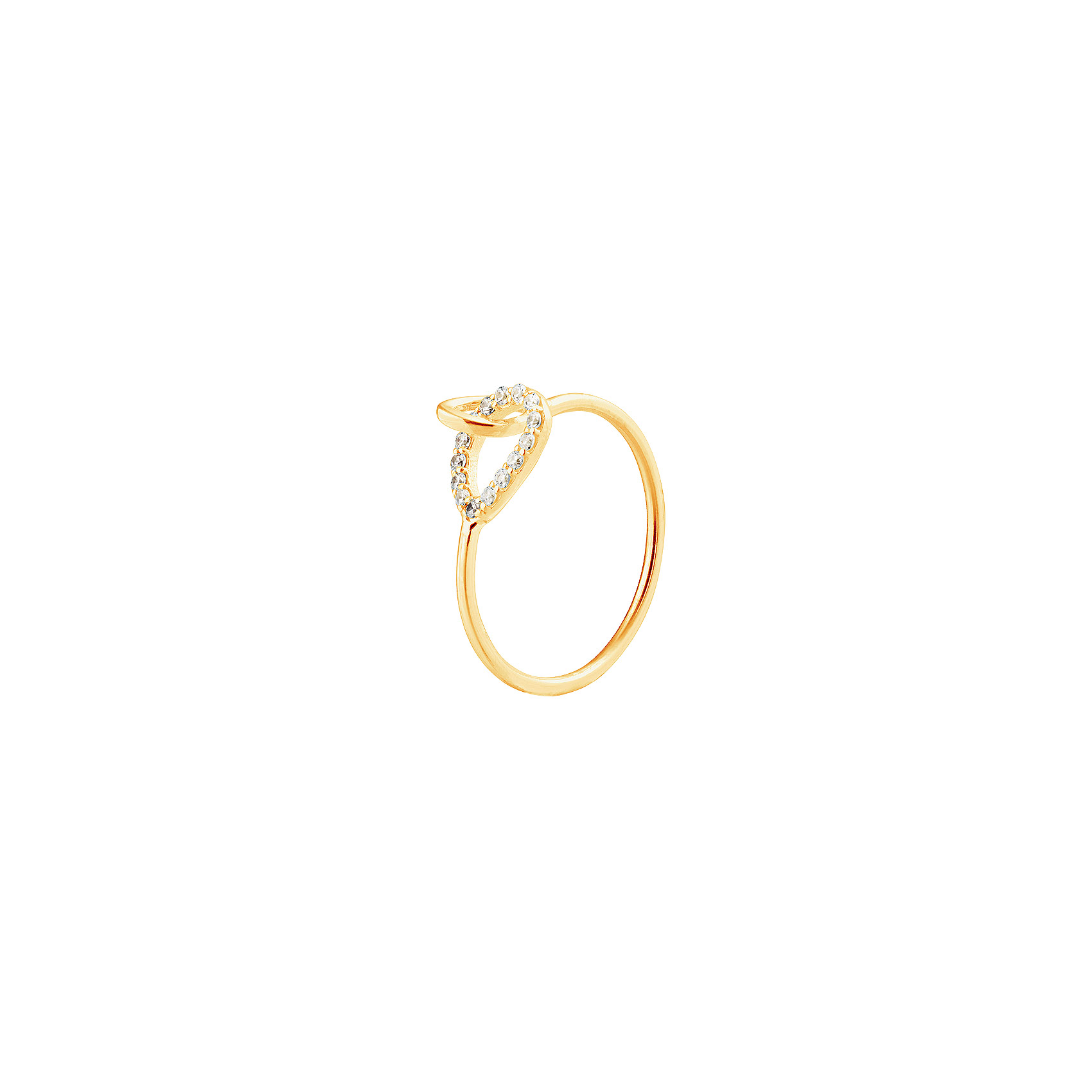 : - Together Drop Ring Diamonds Gold