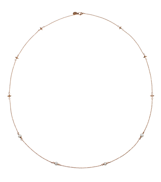 : - Twinkle Necklace Multi Rose Gold