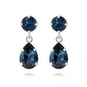 Caroline Svedbom Mini Drop Earrings Rhodium Montana