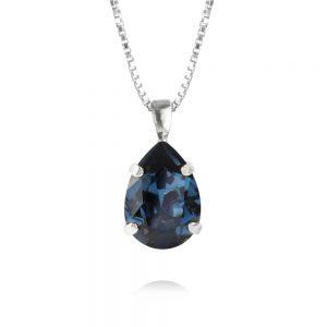 Caroline Svedbom Mini Drop Necklace Rhodium Montana