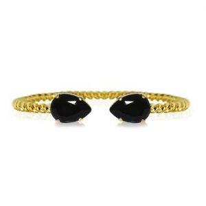 Caroline Svedbom Mini Drop Bracelet Gold Jet