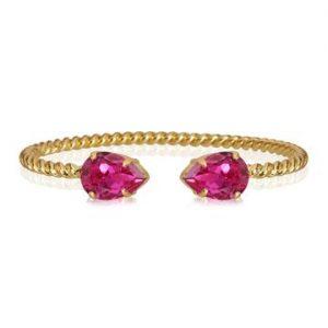 Caroline Svedbom Mini Drop Bracelet Gold Fuchsia