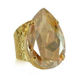 Caroline Svedbom Perfect Drop Ring Gold Golden Shadow
