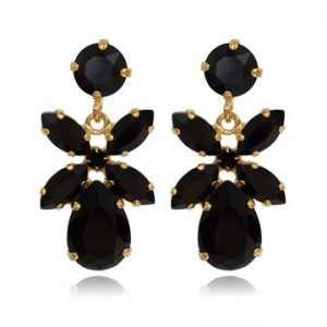 Caroline Svedbom Mini Dione Earrings Gold Jet