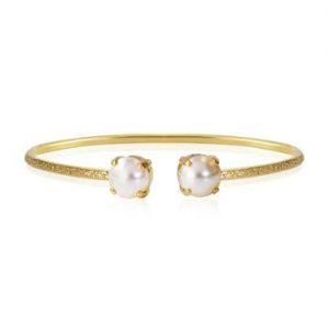 Caroline Svedbom Classic Petite Bracelet Gold Pearl