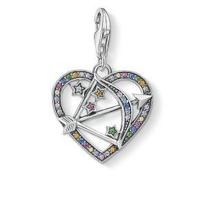 Thomas Sabo Hjärta Med Amors Pil Berlock Silver