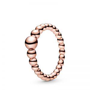 PANDORA String of Beads Ring Rosé