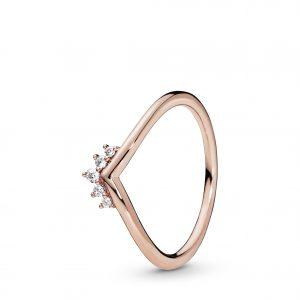 PANDORA Tiara Wishbone Ring Rosé