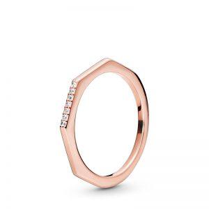 PANDORA Multifaceted Ring Rosé
