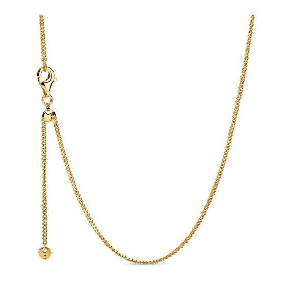 PANDORA Curb Chain Halsband Guld