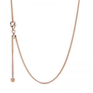 PANDORA Curb Chain Halsband Rosé