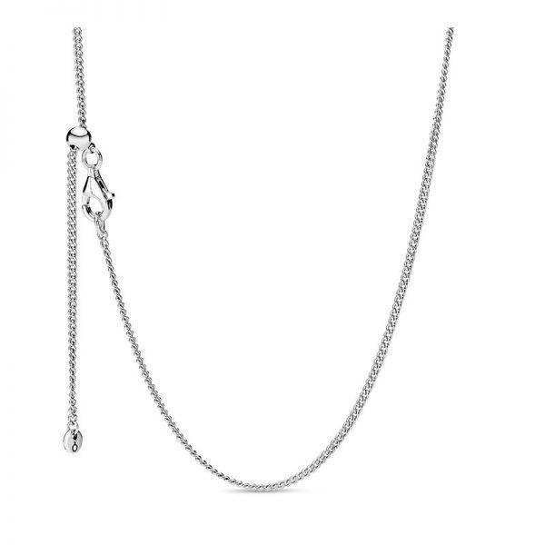 PANDORA Curb Chain Halsband Silver