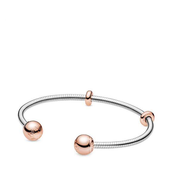 PANDORA Pandora Moments Snake Chain Style Öppen Armring Rosé