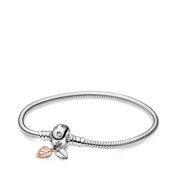 PANDORA Pandora Moments Leaves & Snake Chain Armband