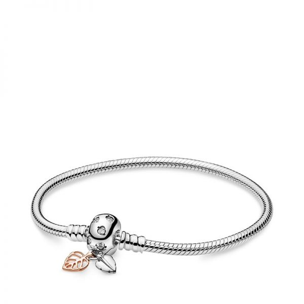 PANDORA Pandora Moments Leaves & Snake Chain Armband