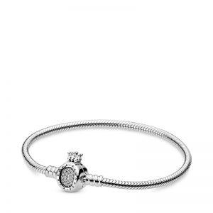 PANDORA Pandora Moments Crown O & Snake Chain Armband