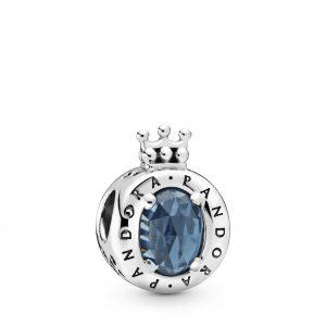 PANDORA Blue Sparkling Crown O Berlock