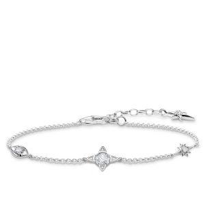 Thomas Sabo Armband Små Lyckobringare Silver Med Vita Stenar