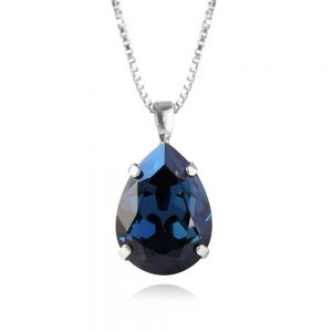 Caroline Svedbom Classic Drop Necklace Rhodium Montana