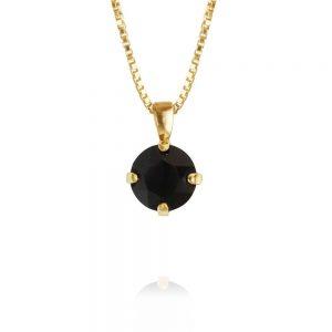 Caroline Svedbom Classic Petite Necklace Gold Jet