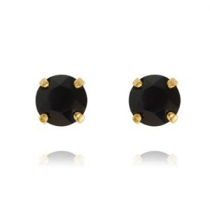Caroline Svedbom Classic Stud Earrings Gold Jet