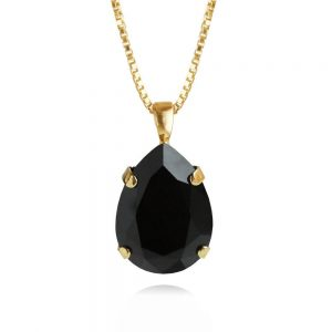 Caroline Svedbom Classic Drop Necklace Gold Jet