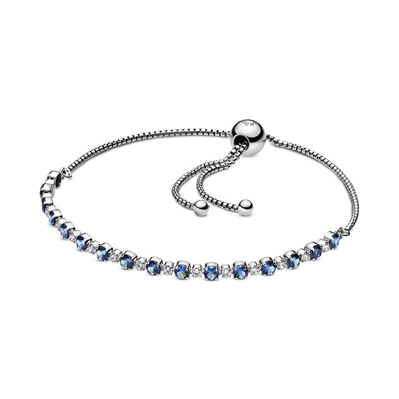Pandora Blått & Strålande Skimmer & Sliding Armband