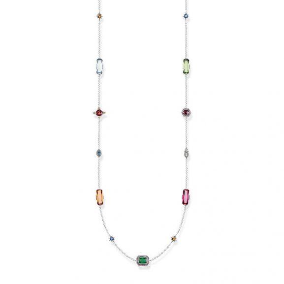 halsband med färgade stenar