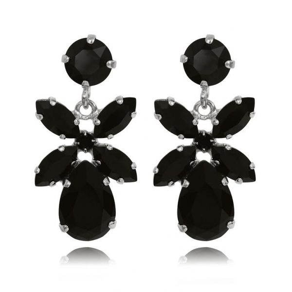 Caroline Svedbom Mini Dione Earrings Rhodium Jet