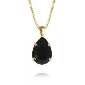 Caroline Svedbom Mini Drop Necklace Gold Jet