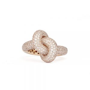 Engelbert Absolutely Loose Knot Ring Vitguld White Diamonds