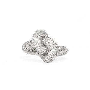 Engelbert Absolutely Loose Knot Ring Vitguld White Diamonds
