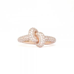 Engelbert Absolutely Tight Knot Ring Roséguld White Diamonds