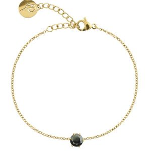 Edblad Armband Crown Bracelet Gold Black - Jewelrybox.se