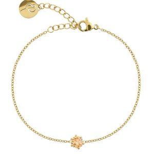 Edblad Armband Crown Bracelet Gold Champagne - Jewelrybox.se