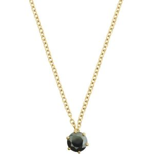Edblad Halsband Crown Necklace Gold Black - Jewelrybox.se
