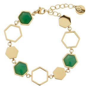 Edblad Armband Sapphire Bracelet Harmony Gold - Jewelrybox.se