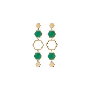 Edblad Örhängen Sapphire Earrings Maxi Harmony Gold - Jewelrybox.se