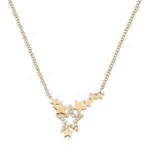 Edblad Halsband Starfield Necklace Gold - Jewelrybox.se