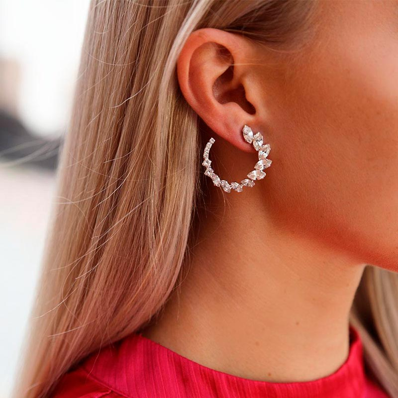 Caroline Svedbom ANGIE EARRINGS RHODIUM CRYSTAL