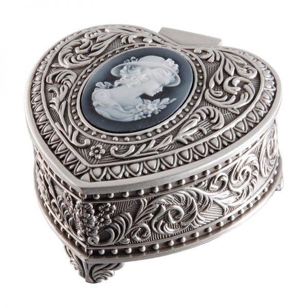 Dacapo Smyckeskrin hjärta med kamé - Jewelrybox.se