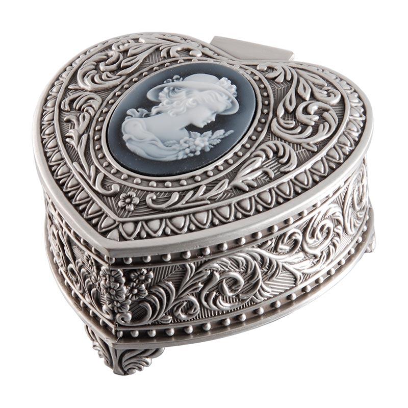 Smyckeskrin hjärta med kamé