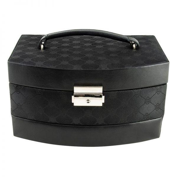 Dacapo Smyckeskrin svart mönstrad tyg - Jewelrybox.se