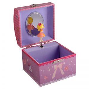 Dacapo Smyckeskrin barn rosa med speldosa - Jewelrybox.se