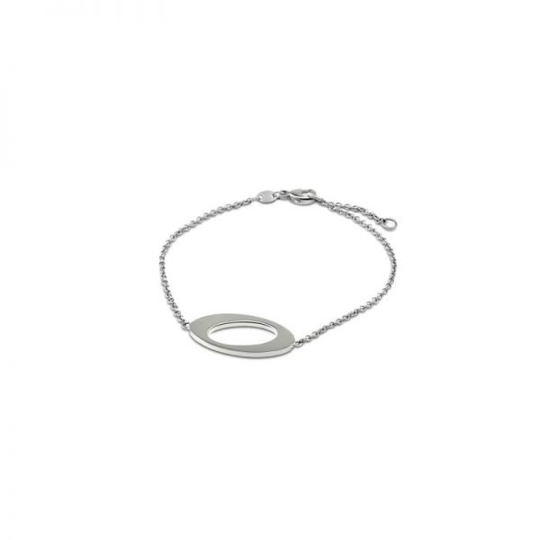 Ateljé TeBoon Oval & Out Armband Silver